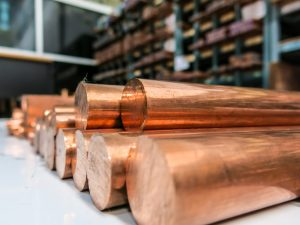 Copper ticks higher on strong China data, weak dollar