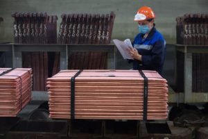 Copper prices near 2-year high as Chinese factory output accelerates