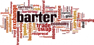 Will bartering ever become a primary trading tool for commodities?