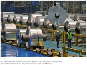 Apparent aluminum deficit drives up spot prices against longer dates