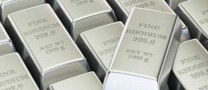 Rhodium base price pace slackens