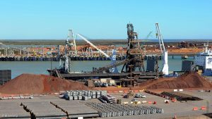 Iron-ore, gold and copper set export records